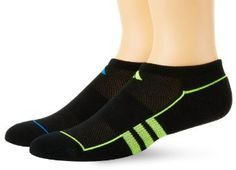 adidas Boys Youth Climalite No Show Medium Sock, Assorted, 3-4
