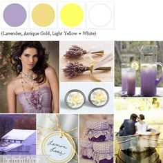 {Lemon + Lavender}: A Palette of Lavender, Antique Gold, Light Yellow + White // Color palette for the study I'll eventually paint.