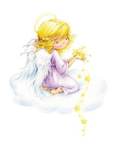Leading Illustration & Publishing Agency based in London, New York & Marbella. Christmas Angels, Christmas Art, Cute Images, Cute Pictures, Image Deco, Children Images, Angel Art, Digi Stamps, Whimsy Stamps