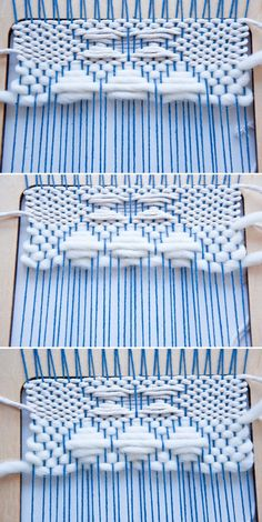 How to weave shapes with the weft over technique