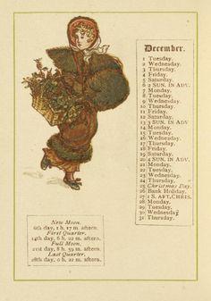 December - Kate Greenaway's Almanack for 1885