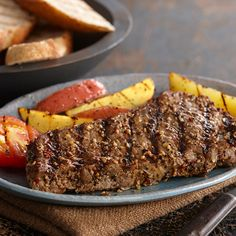 For a delectable smoky and sweet steak, prepare with brown sugar, crushed red pepper and Grill Mates® Montreal Steak Seasoning. Use boneless beef sirloin or New York strip steaks for best results.