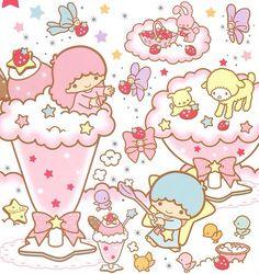 little twin stars sanrio pastel cute <3