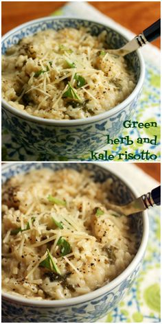 Green herb and kale risotto, pressure cooker or stovetop {vegetarian, gluten-free} {The Perfect Pantry}