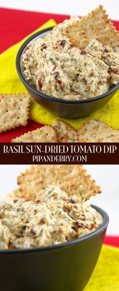 Basil Sun-Dried Tomato Dip - This dip comes with a warning: you WILL have the desire to eat the entire batch. Alone.