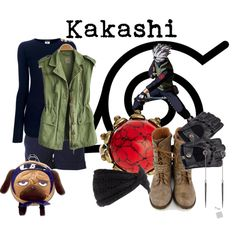 Hatake Kakashi Casual Cosplay from Naruto