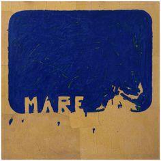 L. Fontana, Mare. E' una delle opere in mostra al MACA di Acri, dedicata a Yves Klein e i suoi epigoni.