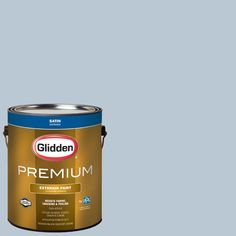 Glidden Premium 1 gal. #WNBA-132C Atlanta Dream Light Blue Satin Exterior Paint  sc 1 st  Pinterest & Glidden Essentials 1 gal. #HDGB14 Marine Blue Eggshell Interior ...