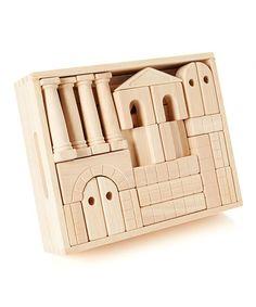 Loving this Melissa & Doug Architectural Standard Unit Blocks Set on Wooden Storage Crates, Crate Storage, Alphabet Blocks, Christmas Deals, Melissa & Doug, Birthday Wishlist, Historical Architecture, Wooden Blocks, Classic Toys