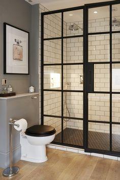 How a London Couple Transformed a Dank Fixer-Upper - Home decor Bathroom Design Small, Bathroom Interior Design, Modern Bathroom, Master Bathroom, Basement Bathroom, Condo Bathroom, Attic Bathroom, Black Bathrooms, Bathroom Showers