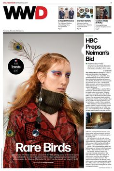 WWD Digital Daily, Edition 15 March 2017, with Maison Margiela by John Galliano, Look 21 from Défilé Fall 2017 collection, on its cover. Model Lorna Foran. Photographed by Giovanni Giannoni.