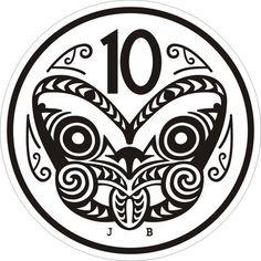 New zealand 10 cent coin tiki retro kiwiana cross stitch pdf etsy new zealand native art new zealand native bird Irezumi Tattoos, Marquesan Tattoos, New Zealand Tattoo, New Zealand Art, Key Tattoos, Body Art Tattoos, Skull Tattoos, Foot Tattoos, Sleeve Tattoos
