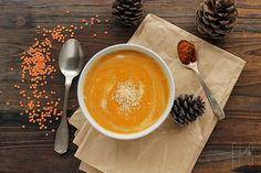 Velouté de potimarron et lentilles corail au lait de coco et au curry rouge | Emilie and Lea's Secrets