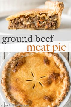 Beef Pot Pies, Vegetable Pot Pies, Minced Beef Pie, Meat Recipes, Cooking Recipes, Puff Pastry Recipes, Ground Beef Recipes, Quiche, Yummy Food