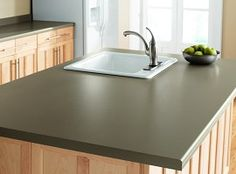 rustoleum - painting laminate counters a-good-home-must-be-made-not-bought Rustoleum Countertop, Painting Countertops, Laminate Countertops, Painting Laminate, Rustoleum Paint, Refinish Countertops, Kitchen Redo, Kitchen Remodel, Kitchen Design