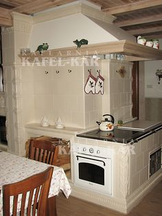 Stoves, Kitchens, Interior Design, Modern, Home Decor, Outside Wood Stove, Cuisine, Houses, Cooking Stove