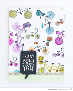 I Can't Do This Without You Card by @pixnglue at @studio_calico