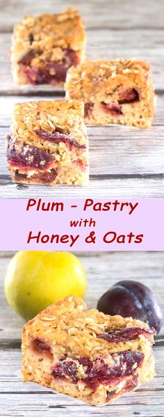 Plum-pastry with Honey & Oats.    http://www.winnish.net/2011/10/128/