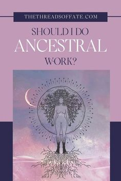 Wondering who can and should do ancestral work? The simple answer is anyone and everyone. In fact, doing this work can be beneficial to you as an individual, but also to your own future descendants. As descendants we can strive towards being strong, supportive ancestors. #ancestralwork #ancestors