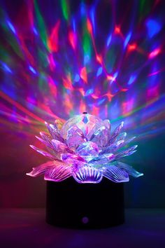 Dolores Guy 11.5 Inch Colorful Silver Glass Crafts Glow in The Dark