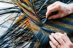Weaving · Jill Fleming Flax Weaving, Loom Weaving, Basket Weaving, Hand Weaving, Loom Yarn, International Craft, Flax Fiber, Polynesian Art, Maori Designs