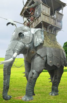 War elephant in plate armour