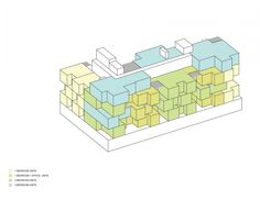 """""""What if we could live in cities where everyone had access to some of the best qualities of a private house,"""" ODA asked themselves. """"We then challenged the zoning rules and regulations, something we have become extremely well versed in, along with the very common fundamentals and typologies of typical apartment buildings and developed a program that satisfies all of the above. The complexity of the form serves a noble function while also becoming a beautiful piece of architecture."""""""