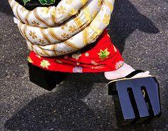 Tayuu walking in hachi moji.