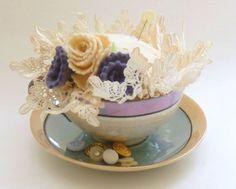 Thrifted Teacup Pincushion Tutorial