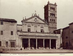Italian Vintage Photographs ~ ~ Rome - Church of Saint Cecilia 1938 Architecture Mapping, Vintage Italian, Vintage Photographs, Notre Dame, Big Ben, Rome, James Anderson, Italy, Vacation
