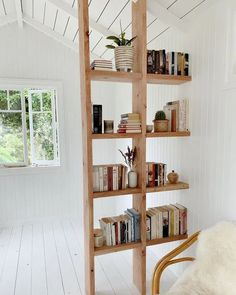 11 Perfect Spots For A Home Library • One Brick At A Time Home Interior, Interior Decorating, Interior Design, Interior Modern, Decorating Tips, Decorating Small Spaces, Furniture For Small Spaces, Bookshelves For Small Spaces, Styling Bookshelves