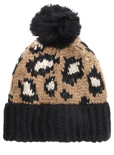1de70b46211d2 Camel leopard print beanie - New In Accessories - What s New Animal Print  Fashion