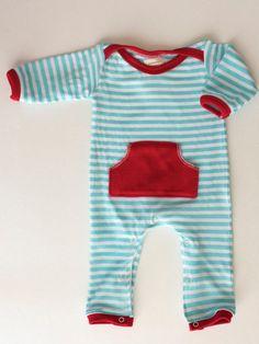 Newborn Pocket Romper. Love the color combo