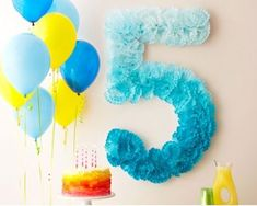 DIY Pom-Pom Number Birthday Decoration - made from coffee filters! - DIY Pom-Pom Number Birthday Decoration - made from coffee filters! Diy Party Decorations, Birthday Decorations, Diy Party Signs, Party Ideas For Teen Girls, Birthday Fun, Birthday Parties, Birthday Ideas, Diy Birthday Sign, Birthday Wall