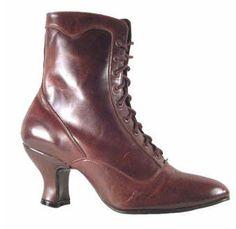 Victorian granny grannie boots Oak Tree Farms Veil Brandy (Brown)   #myfallshoeuniform