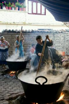 Atole - Tocuaro, Michoacan Mexico... ~D~ all i can say is HMMMMMMM!! now all I need is a concha