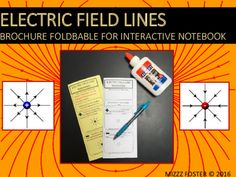 $ 7-12 This is a one page graphic organizer foldable in the brochure style. Students will learn and write about the characteristics of positive and negative electric field lines.Students will also be given instruction on how to properly draw electric field lines, how density plays a role and they have some practice drawing problems along with one diagram for analysis.The brochure fits into a composition notebook or spiral ring notebook with ease and a teacher's key is included.