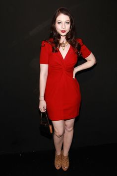 Michelle Trachtenberg wore a Rebecca Minkoff  Ilaria dress to the Rebecca Minkoff Spring 2011 fashion show during Mercedes-Benz Fashion Week on September 12, 2010 in New York City.