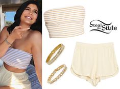 Kylie Jenner Clothes & Outfits | Steal Her Style bandeau shorts crop top bralette Kris Jenner, Kylie Jenner Short Hair, Style Kylie Jenner, Kendall Jenner Bikini, Trajes Kylie Jenner, Kendall Jenner Outfits, Robert Kardashian, Khloe Kardashian, Kardashian Kollection