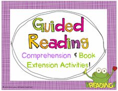 Over 40 comprehension and book extension activities to spruce up any text (anthology, novel, or book club books)!