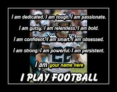 Inspirational Personalized I Play Football Quote Wall Art Poster Brother Best Friend Birthday Gift for SON Chritian McCaffrey Wall Decor by ArleyArt on Etsy Personalized Posters, Personalized Football, Personalized Wall Art, Motivational Wall Art, Wall Art Quotes, Quote Wall, Inspirational Quotes, Football Motivation, Football Quotes