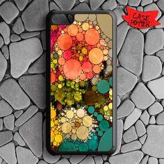 Pattern Round Full Color iPhone 5C Black Case