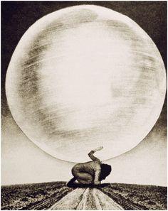 Grete Stern-Los sueños cósmicos com desastres cósmicos . 1949