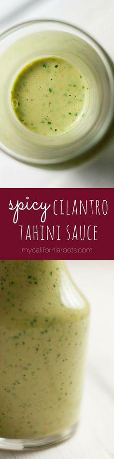 Cilantro Cayenne Tahini Sauce