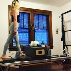 Switchin' up my lunge game ⚡️ I was channelling some side skating whilst tooling around with this sequence⛸⛸ Its all about transferring your weight, and the work, evenly and as smoothly as humanly possibleTo test the smoothness of your movements, place a cat on your reformer box.. If the cat jumps off, you may have jerked the carriage around too abruptly⚡️ Fonzie The Cat stuck around til the end, so I consider that a success Reeard yourself with a split at the end then sw...