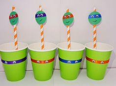 Teenage Mutant Ninja Turtle TMNT de tazas fiesta cumpleaños