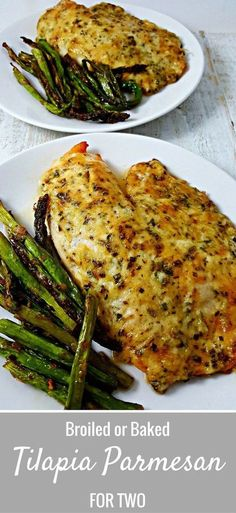 Tilapia Parmesan for two recipe is so easy and quick to prepare. I am not usually big on fish, but I absolutely love the flavor and ease of this Tilapia. It is a mild fish and the sauce on top is cheesy, golden brown and savory. This dish can be bake Tilapia Fish Recipes, Seafood Recipes, Cooking Recipes, Healthy Recipes, Recipes Dinner, Baked Tilapia Recipes Healthy, Easy Fish Recipes, Talpia Recipes, Talapia Recipes Healthy