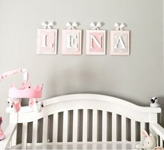 Nursery letters, Hanging Wall Letters,Personalized letters,Pink and Cream Nursery Letters,Wooden Nur Wooden Letters For Nursery, Hanging Letters On Wall, Wood Nursery, Letter Wall, Wood Letters, Nursery Decor, Baby Letters, Nursery Ideas, Room Ideas