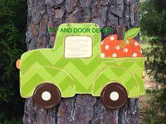 Fall door hangerfall Truck door decorReady by Furnitureflipalabama