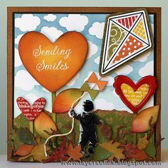 Layers of ink: Autumn Pop-Up card tutorial, made with Sizzix dies. There is pop-up on the inside, made with Karen Burnistons Winged Heart pop 'n cuts die.